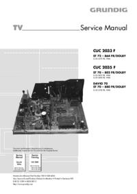 Manual de servicio Grundig ST 70 – 802 FR/DOLBY