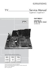 Manuale di servizio Grundig ELEGANCE 70 ST 70 – 900 FR / DOLBY