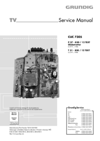 Service Manual Grundig P 37 - 830 / 12 TEXT Globetrotter