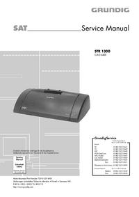 Service Manual Grundig STR 1300