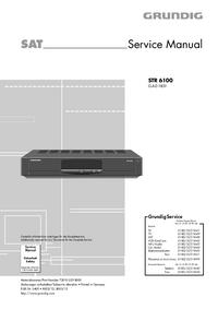 Instrukcja serwisowa Grundig STR 6100