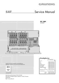 Servicehandboek Grundig STC 1880