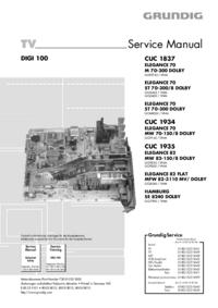 Manual de serviço Grundig ELEGANCE 70 M 70-300 DOLBY