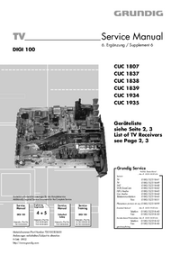Service Manual Grundig SEDANCE 72 M 72-2110 MV/DOLBY