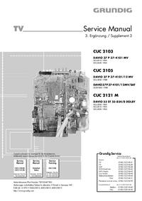 Manuale di servizio Supplemento Grundig DAVIO 37 P 37-4101/12 MV