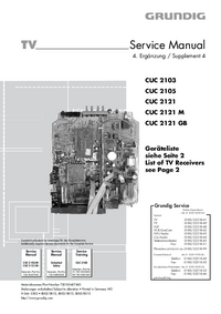 Service Manual Supplement Grundig P 37-4101 MV