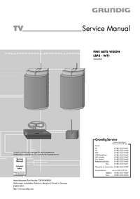 Servicehandboek Grundig FINE ARTS VISION  WT1