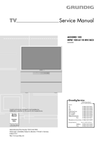 Service Manual Grundig ACCORO 102