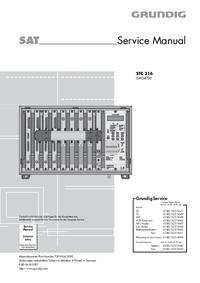 manuel de réparation Grundig STC 316