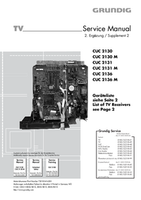 Service Manual Supplement Grundig SEDANCE 72