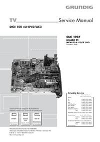 Manual de serviço Grundig MFW 92-6110/9 DVD
