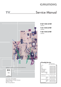 Servicehandboek Grundig P 37-1101/5 TXT