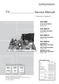 Service Manual Supplement Grundig MFW 70-3201 NIC/DOLBY