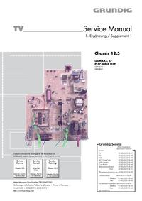 Service Manual Supplement Grundig LEEMAXX 37 P 37-4204 TOP