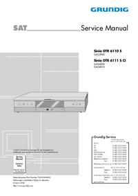 Serviceanleitung Grundig Sinio DTR 6110 S