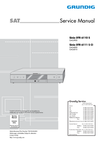 manuel de réparation Grundig Sinio DTR 6110 S