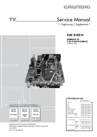 Service Manual Supplement Grundig LEEMAXX 55 T 55-4104 M/COM/CL