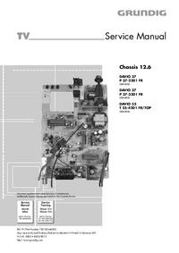 Manual de servicio Grundig DAVIO 37 P 37-3201 FR