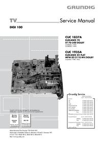 manuel de réparation Grundig CUC 1837A