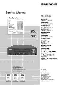 Service Manual Grundig Madrid / SE 9106 HiFi/NIC
