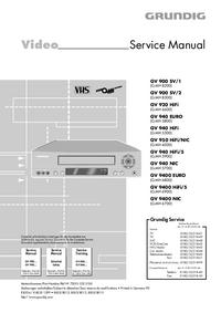 manuel de réparation Grundig GV 950 HiFi/NIC