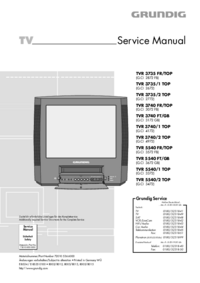 Service Manual Grundig TVR 3740 FR/TOP