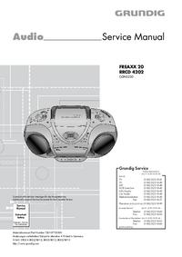 Руководство по техническому обслуживанию Grundig FREAXX 20 RRCD 4202