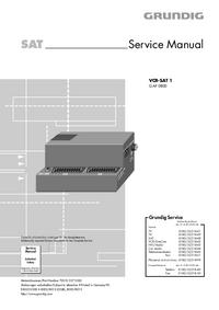 Serviceanleitung Grundig VCR-SAT 1
