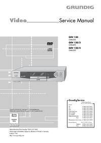 Manual de servicio Grundig GDV 130/2