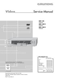 Service Manual Grundig GDV 130/4