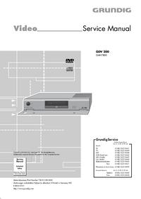 Руководство по техническому обслуживанию Grundig GDV 200