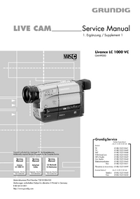 Service Manual Supplement Grundig Livance LC 1000 VC