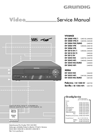 Manual de servicio Grundig VIVANCE GV 3010 SV/2