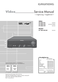 Service Manual Supplement Grundig XERIA GV 6063 HiFi