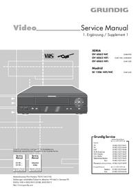 Руководство по техническому обслуживанию дополнения Grundig XERIA GV 6062 NIC