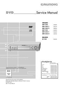 Service Manual Grundig XENARO GDP 5100 /2