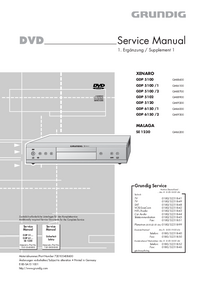 Service Manual Supplement Grundig XENARO GDP 5120