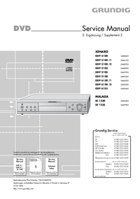 Service Manual Supplement Grundig MALAGA SE 1235
