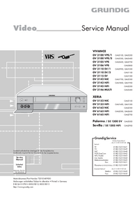 Service Manual Grundig VIVANCE GV 3106 VPS