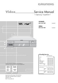 Erweiterung zur Serviceanleitung Grundig VIVANCE GV 3147 HiFi