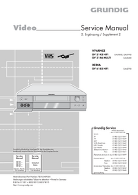 Service Manual Supplement Grundig XERIA GV 6165 HiFi
