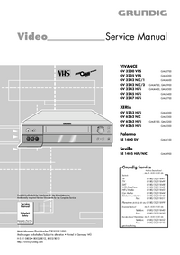 Service Manual Grundig VIVANCE GV 3205 VPS
