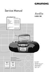 Manual de serviço Grundig K-RCD 120