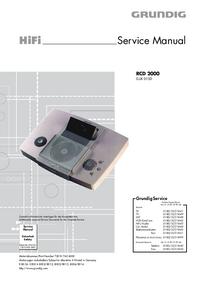 Manual de serviço Grundig RCD 2000