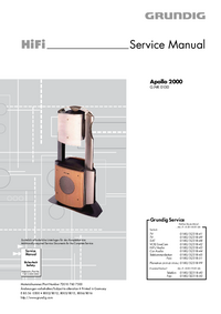 Manual de servicio Grundig Apollo 2000