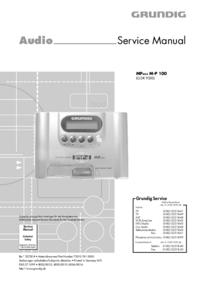 Manual de serviço Grundig MPAXX M-P 100