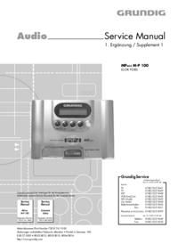 Serviço Manual Supplement Grundig MPAXX M-P 100