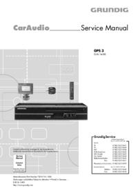 Руководство по техническому обслуживанию Grundig GPS 3