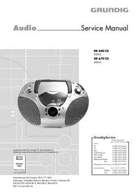 manuel de réparation Grundig RR 640 CD