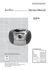 manuel de réparation Grundig RR 440 CD